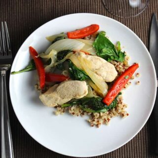 Skillet Chicken with Baby Kale