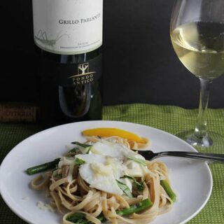 Sicilian Wine for Linguine with Cod and Asparagus