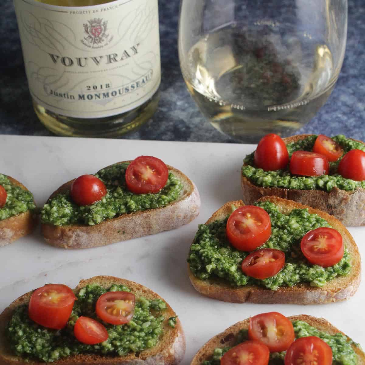crostini with wine pairing