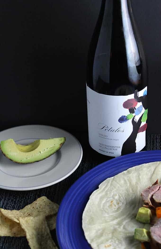 Petalos Bierzo wine for pork tacos