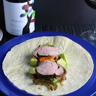 Spanish wine with pork tacos. Cooking Chat recipe and wine pairing.