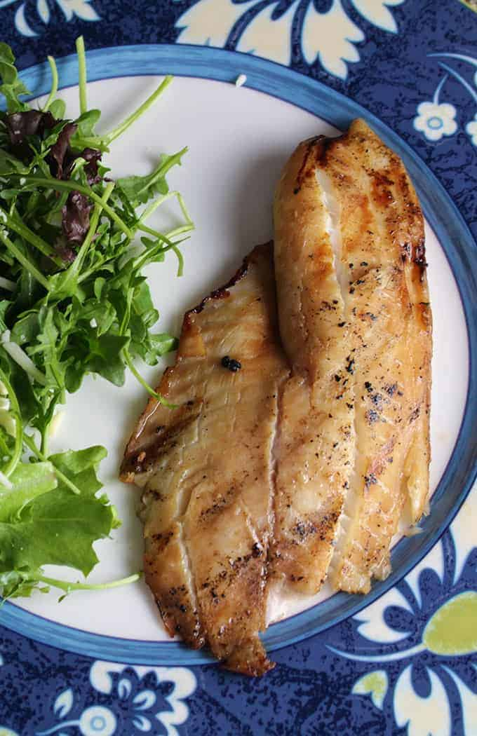 Simple Grilled Tilapia, 1 of 15 great grilled fish recipes featured in Cooking Chat roundup.