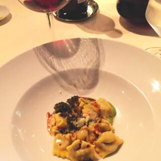 Agnolotti at Ai Fiori, part of a special meal in New York City.