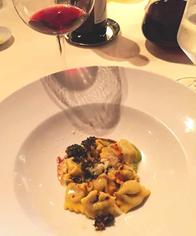 A Special Meal in New York City includes this tasty agnolotti dish.