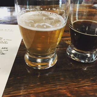 beers at Mystic Brewery