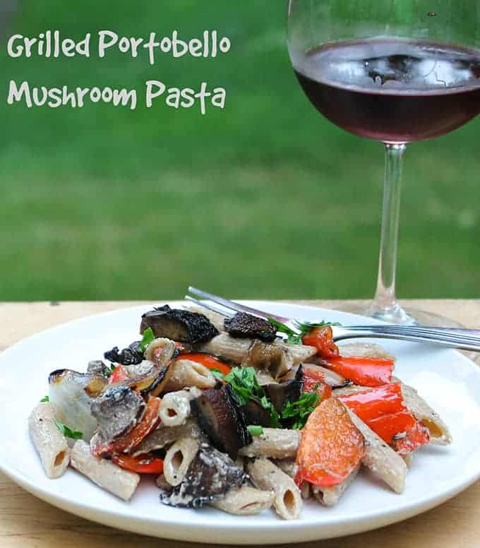 creamy mushroom sauce grilled portobello and peach sandwich grilled ...