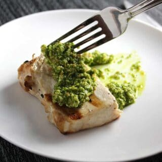 Grilled Swordfish with Kale Pesto and $280 Gift Card Giveaway