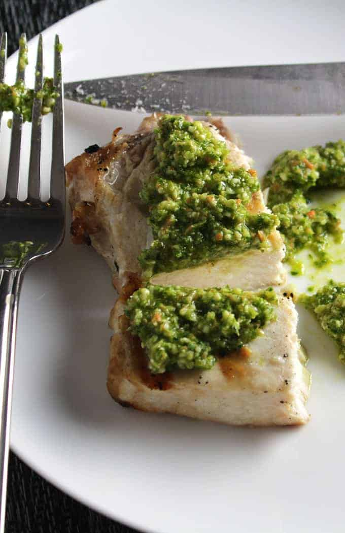 Grilled Swordfish with Kale Pesto , 1 of 16 Great Grilled Fish Recipes highlighted on Cooking Chat.