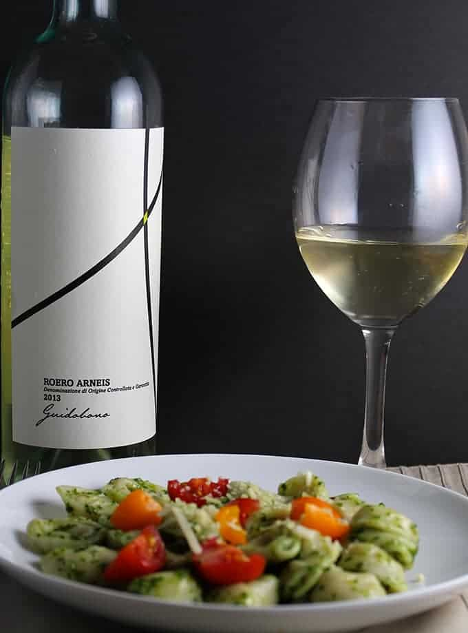Kale Pesto Tortellini with Arneis for #winePW