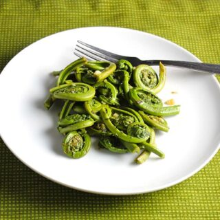 Sautéed Fiddlehead Ferns