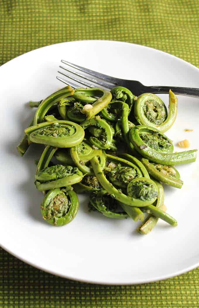 Sauteed fiddlehead ferns recipe is an easy way to enjoy this spring vegetable,