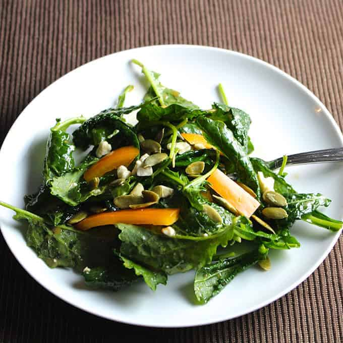 Simple Maple Vinaigrette recipe, great for kale, cabbage and other veggies.