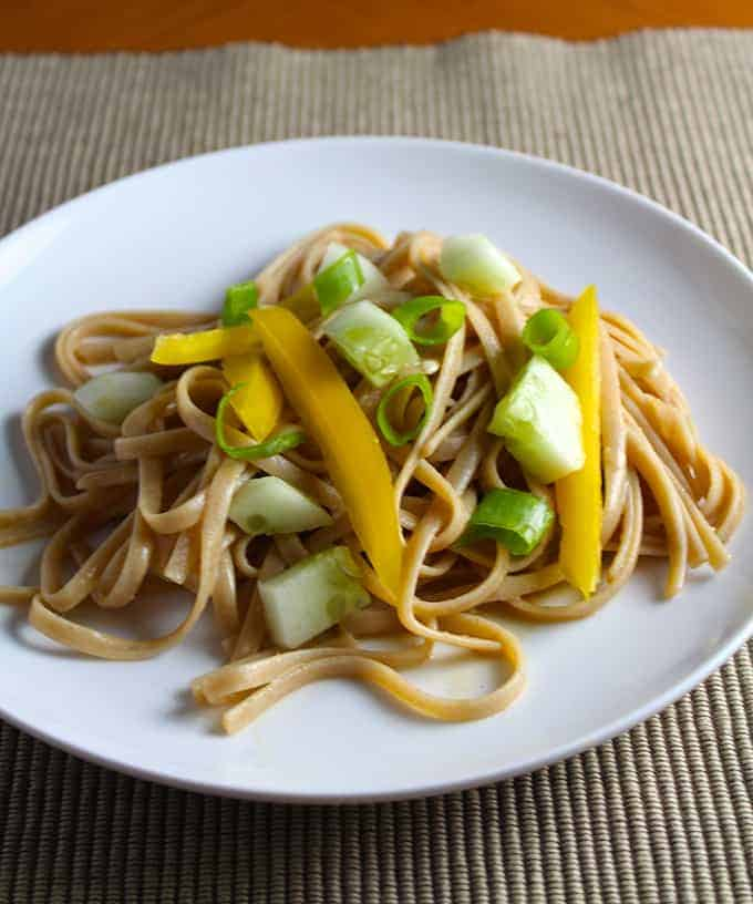 Soynut Butter Noodles recipe from Cooking Chat