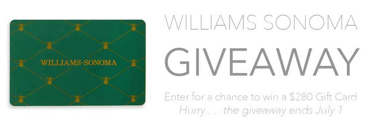 $280 gift card giveaway for William Sonoma