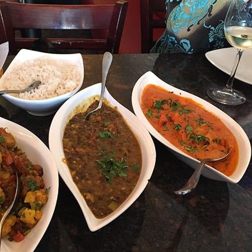 Indian food and wine pairing at Zaika