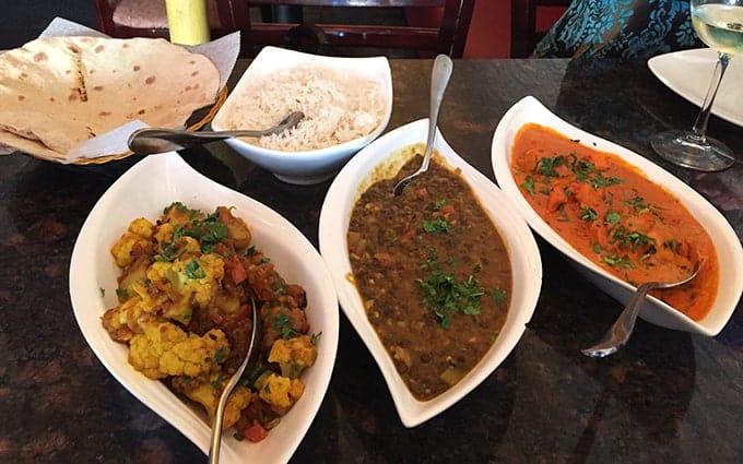 meal at Zaika Indian Bistro