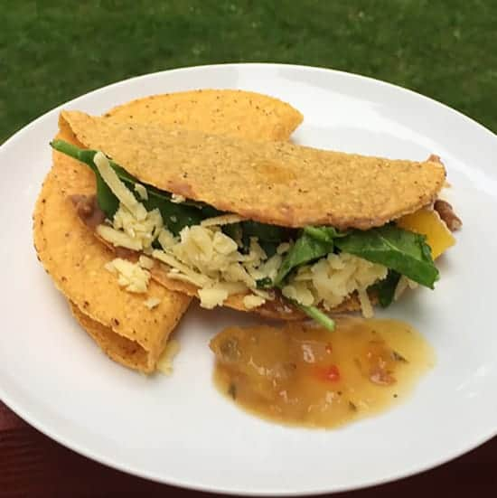 bean tacos with mango salsa