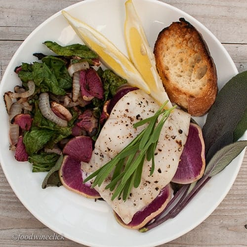grilled walleye from foodwineclick, featured in Cooking Chat great grilled fish roundup.
