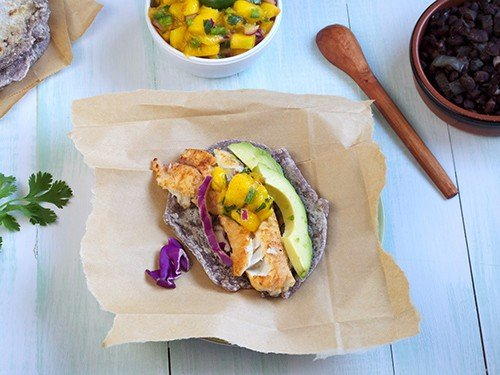 Fish tacos from Simply Healthy Family, picked for Cooking Chat grilled fish roundup