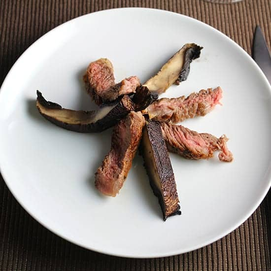 Grilled Ribeye with Portobello Mushrooms for #WeekdaySupper