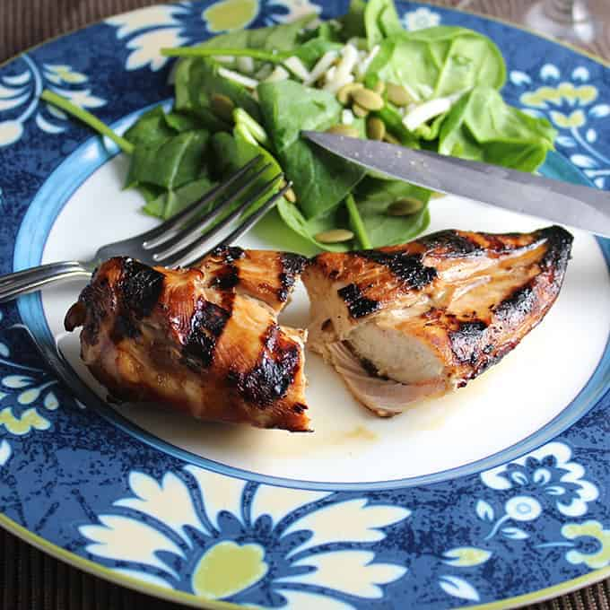 Juicy Grilled Chicken Breast. Say no to dried out chicken, make this recipe for your family!
