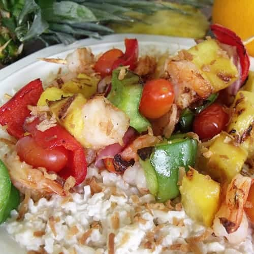 Tropical Shrimp Kabob from Cindy's Recipes and Writings