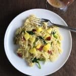 Veggie Orzo with Pineapple and Bacon