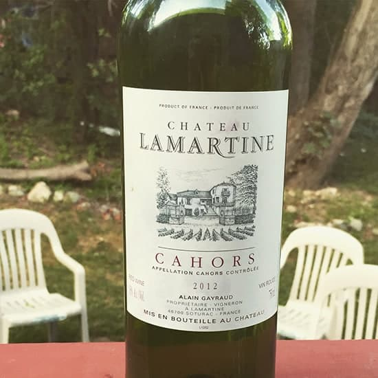 2012 Chateau La Martine Malbec blend, paired well with grilled pork chops. | cookingchatfood.com