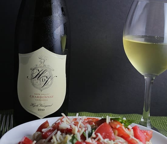2010 Hyde Vineyard Chardonnay from Carneros (Napa). Great wine, paired with Mac & Cheddar. | cookingchatfood.com