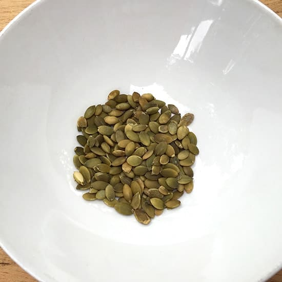 pumpkin seeds for a nut-free pesto