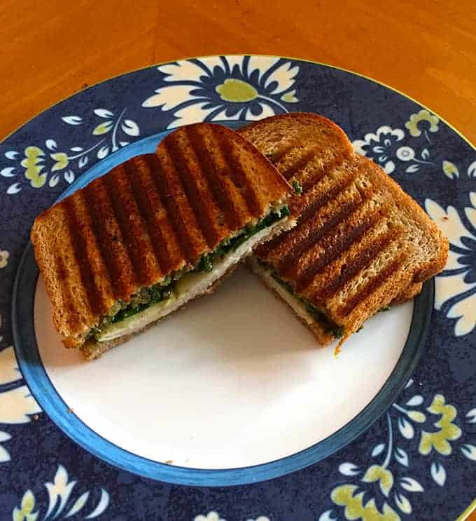 Turkey Pesto Panini, tasty sandwich recipe from cookingchatfood.com