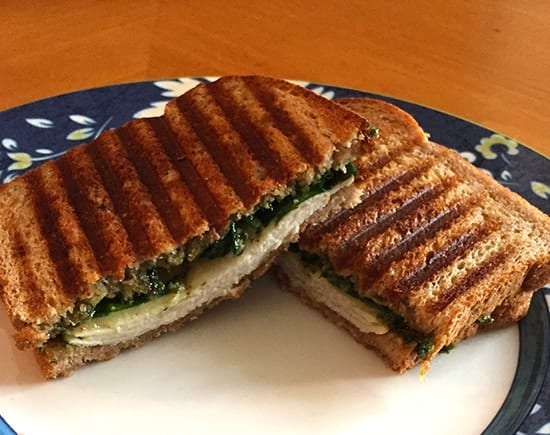 Turkey Pesto Panini for a full flavored lunch | cookingchatfood.com