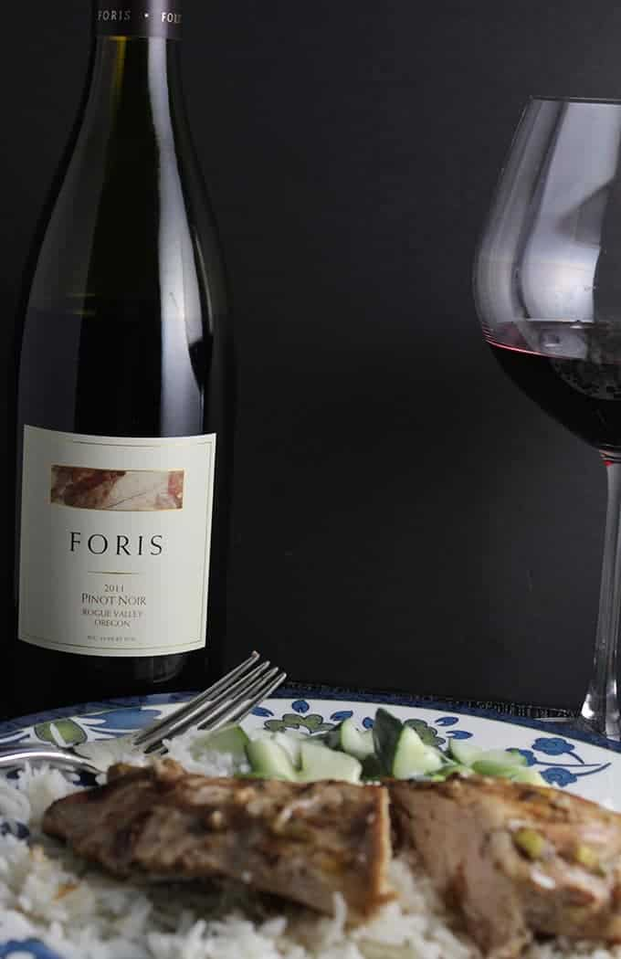 A red wine for Tandoori chicken can a nice match. Pairing details and recipe from cookingchatfood.com.