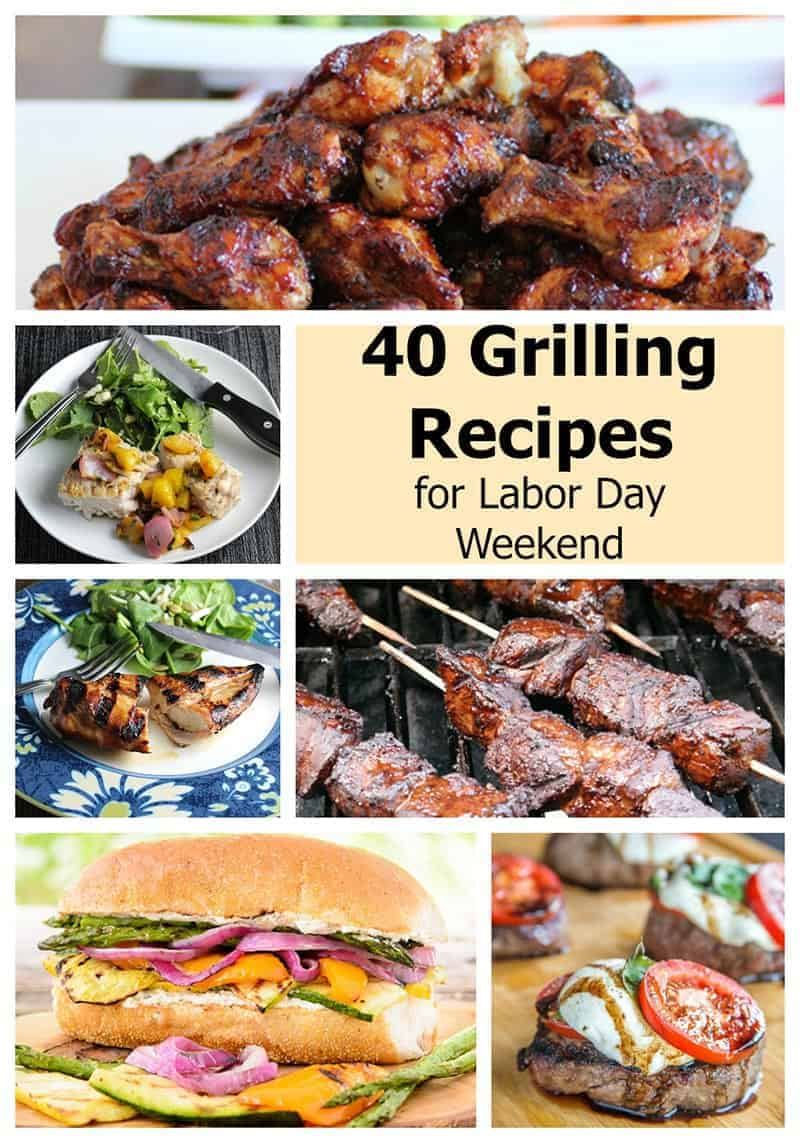 40 Grilling Recipes for Labor Day Weekend features great recipes from a talented group of bloggers | cookingchatfood.com