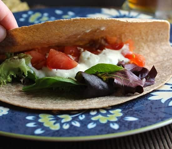 making Bean Tacos with Tofu Cream | cookingchatfood.com