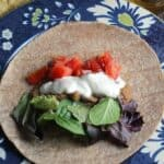 Bean Tacos with Tofu Cream for an easy vegan meal | cookingchatfood.com