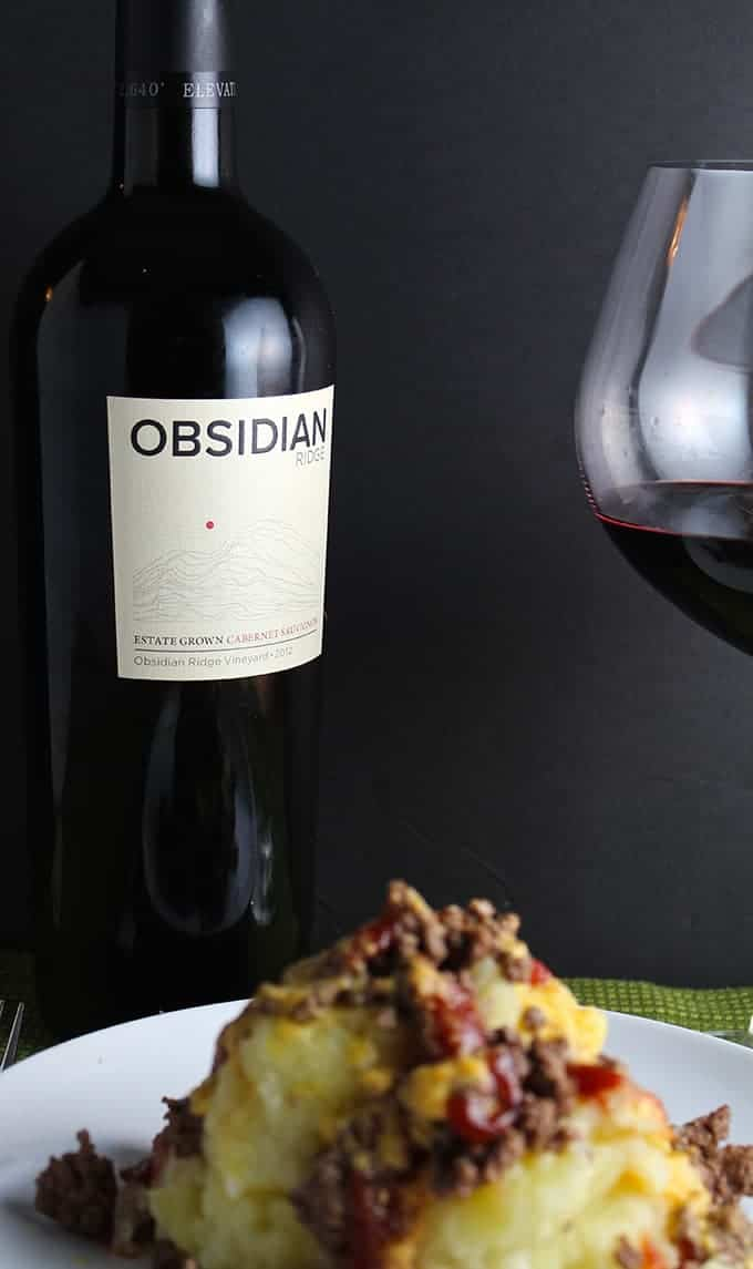 2012 Obsidian Ridge Cabernet, an excellent cab from the volcanic Lake County soils of the Mayacamas Range.