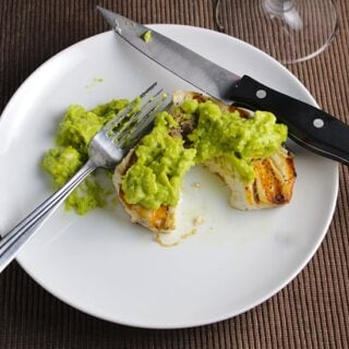 Grilled Swordfish with Guacamole