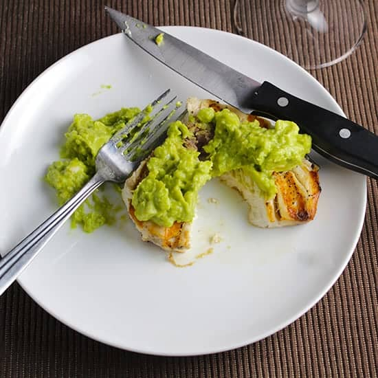 Grilled Swordfish with Guacamole | cookingchatfood.com