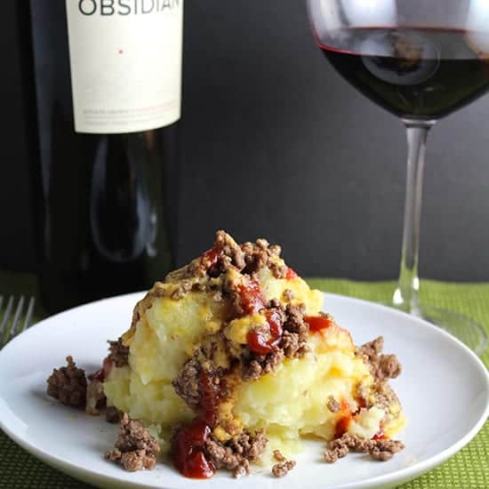 Volcanic Potatoes and Beef, a creative recipe bearing a resemblance to an erupting volcano.