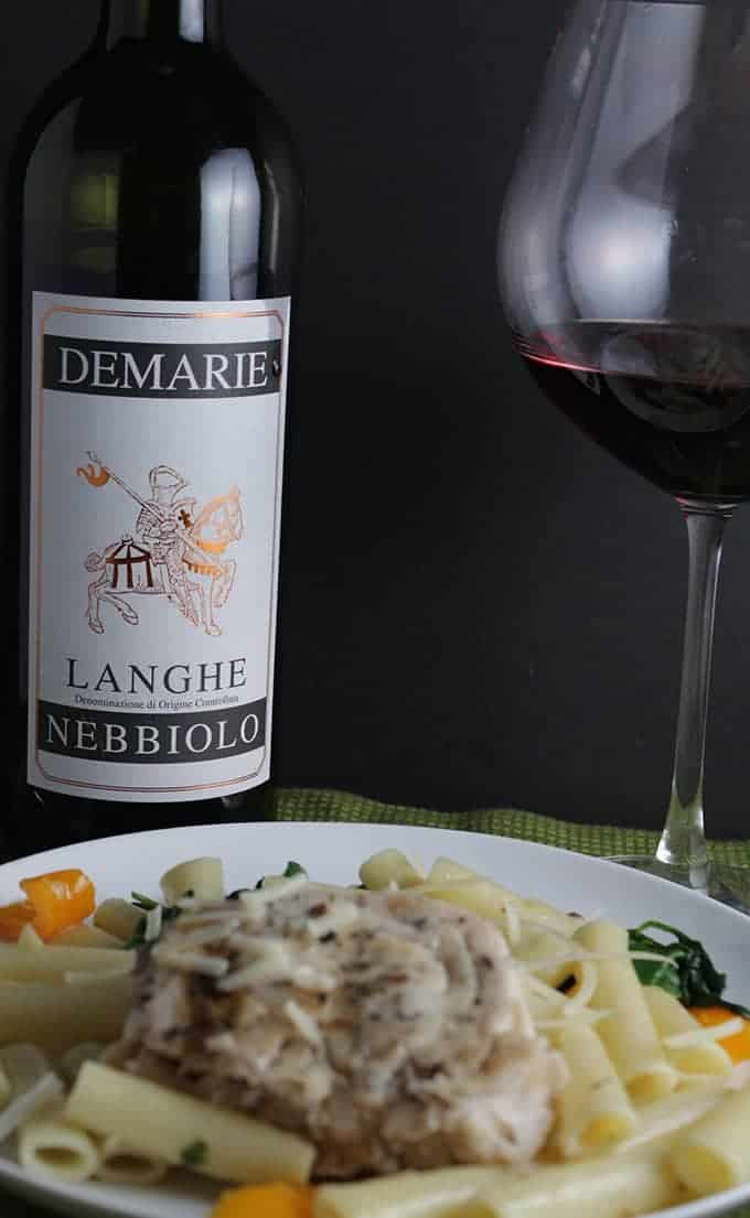 Demarie Langhe Nebbiolo is a very good quality wine. We enjoyed paired with ziti and swordfish.