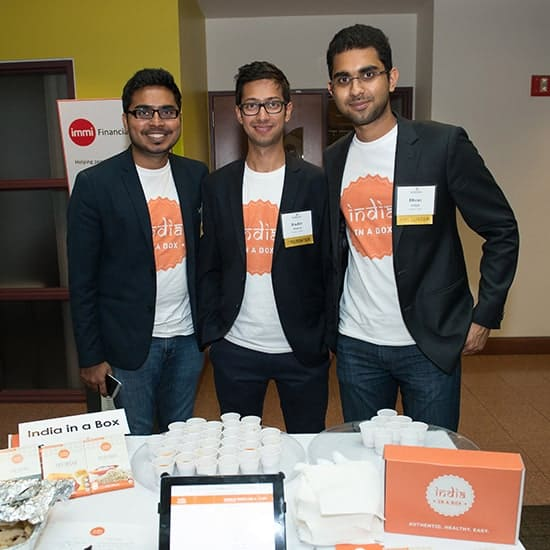 India in a Box Team: from left to right, Shyam Devnani, Ruchir Mashru, Dhruv Sehgal