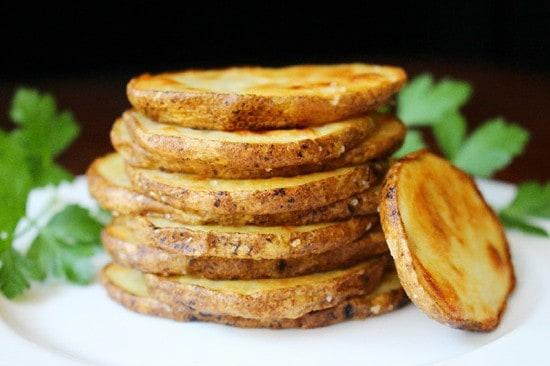 Olive Oil and Sea Salt Crispy Roasted Potato Rounds