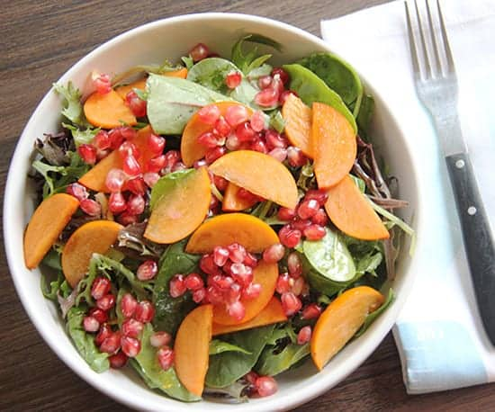 Persimmon Pomegranate Salad from Brunch with Joy