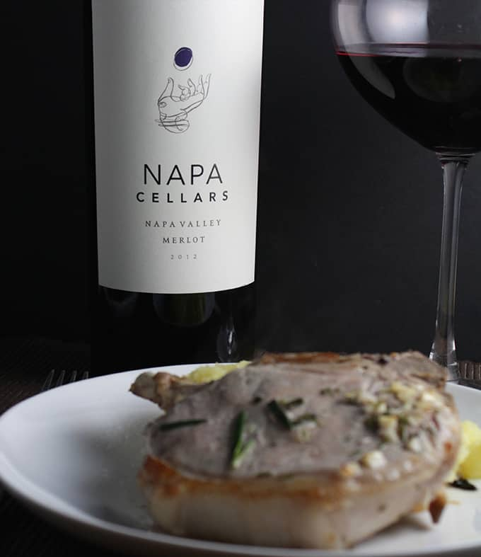 Napa Cellars Merlot with Roasted Rosemary Pork Chops