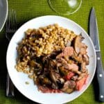 Spoon Roast with Mushrooms and Farro | cookingchatfood.com