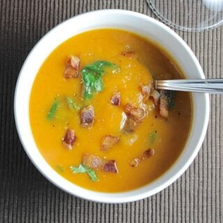 Sweet Potato Soup with Bacon #SundaySupper