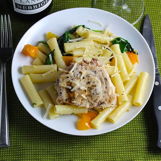 Ziti with Swordfish and Truffle Butter