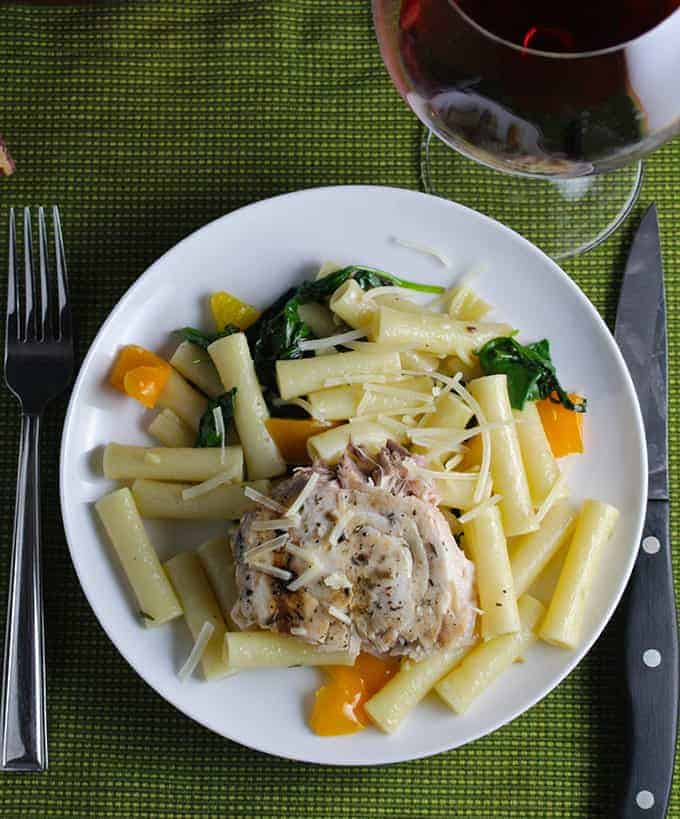 Ziti with Swordfish and Truffle Butter is a simple yet elegant meal. Tasty paired with a Nebbiolo!