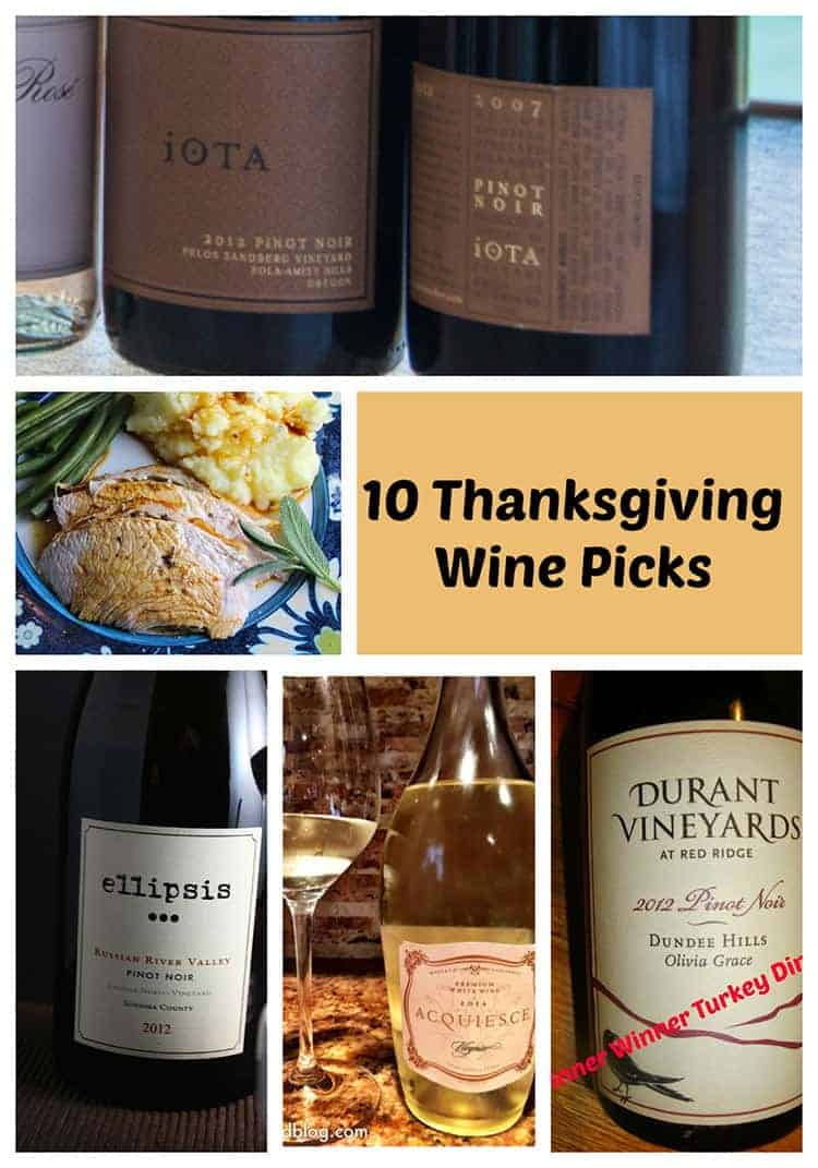 10 Thanksgiving Wine Picks from the talented Wine Pairing Weekend bloggers | cookingchatfood.com